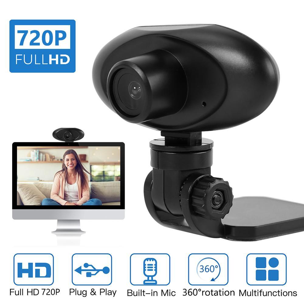 Cámara Web ALLOET HD 720P con micrófono integrado con rotación de 360, grabadora de Video Digital USB, cámara Web para ordenador portátil de escritorio