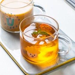 Mdzf sweethome 400ml criativo menino menina casal copo de vidro handgrip dos desenhos animados leite caneca escritório casa café suco cerveja drinkware copos