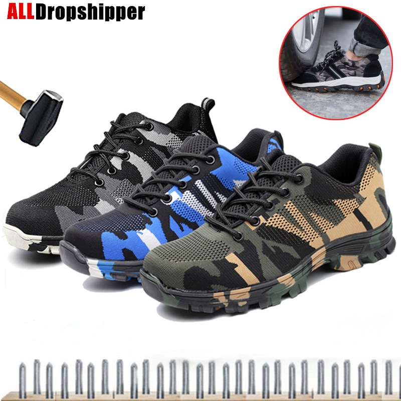 AliExpress - Anti-smashing Puncture-Proof Safety Shoes Men Women Steel Toe Air Work Sneakers Indestructible Ryder Shoes Fashion Men's Boots
