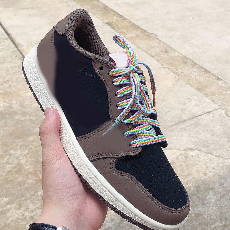 Unisex Sneakers Sports Shoe Laces Fashion Rainbow Color Shoelaces Casual Athletic Men Woman Shoes La