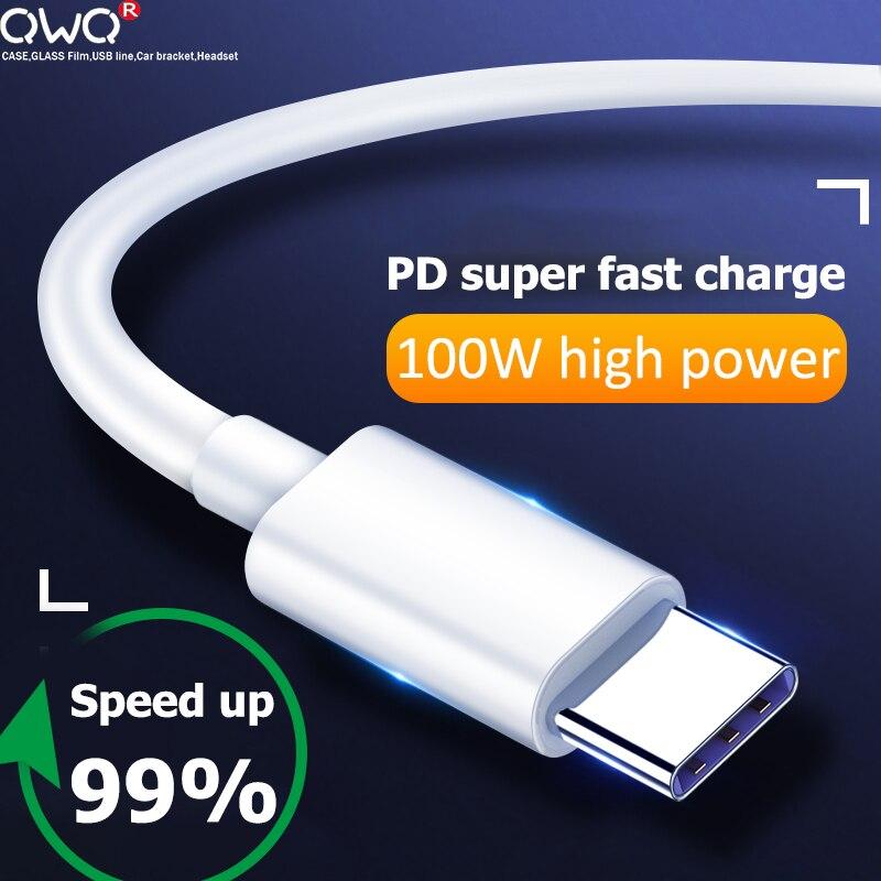 Cable USB tipo C para móvil, cargador rápido de 100W, PD 5A,...