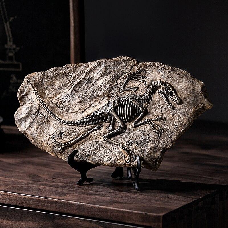 Figuritas de dinosaurios de resina, accesorios de decoración del hogar para escritorio, escultura de cráneo de dinosaurio, adorno para la habitación, decoración del hogar