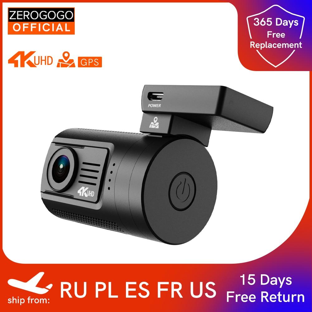 ZEROGOGO Z3 جهاز تسجيل فيديو رقمي للسيارات كاميرا 4K داش كام لتحديد المواقع السيارات داشكام 4K الترا HD مسجل فيديو سوبر للرؤية الليلية سوبر مكثف CPL