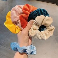 fashion velvet elastic hair rubber bands for women scrunchie headband gum hair tie rope ponytail holder hairband hair accessorie
