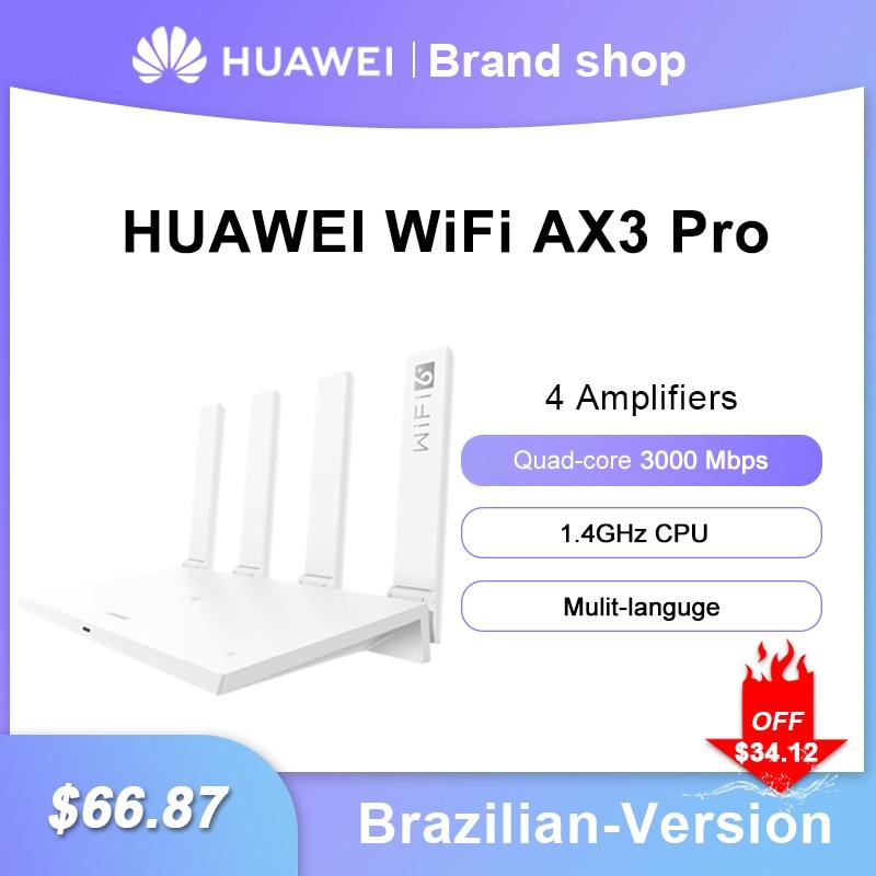 هواوي-راوتر واي فاي AX3 Pro ، رباعي النواة ، AX3 ، 6 3000 ميجابايت لكل ثانية ، 2.4 جيجاهرتز 5 جيجاهرتز ، ثنائي النطاق ، معدل جيجابت
