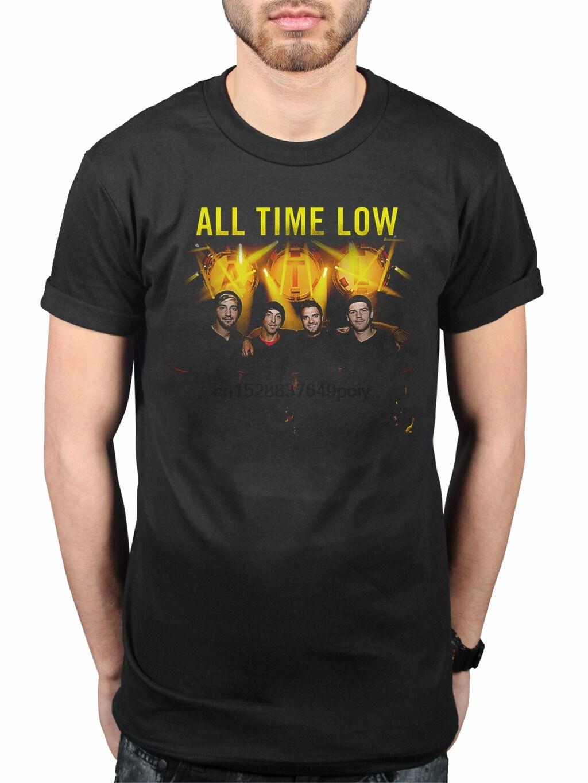 Camiseta oficial de All Time Low Goodnight, camiseta con efecto de Glamour, no se enreda