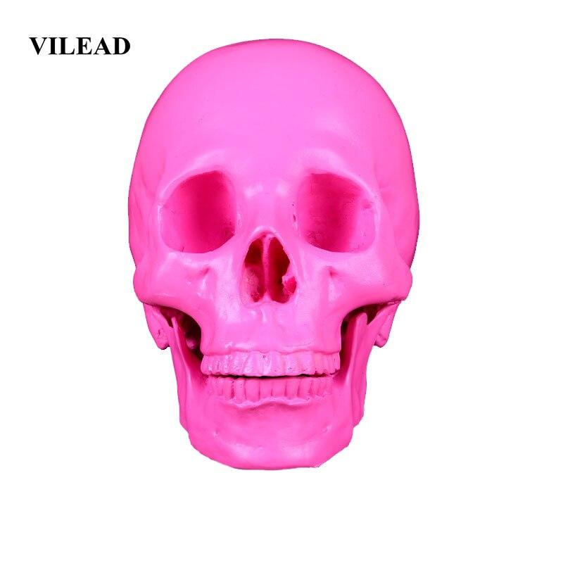 VILEAD, 19cm, artesanías de resina con cráneo Animal, decoración para fiesta de Horror, decoración de Halloween, pecera, paisaje acuático, cueva, decoración personalizada