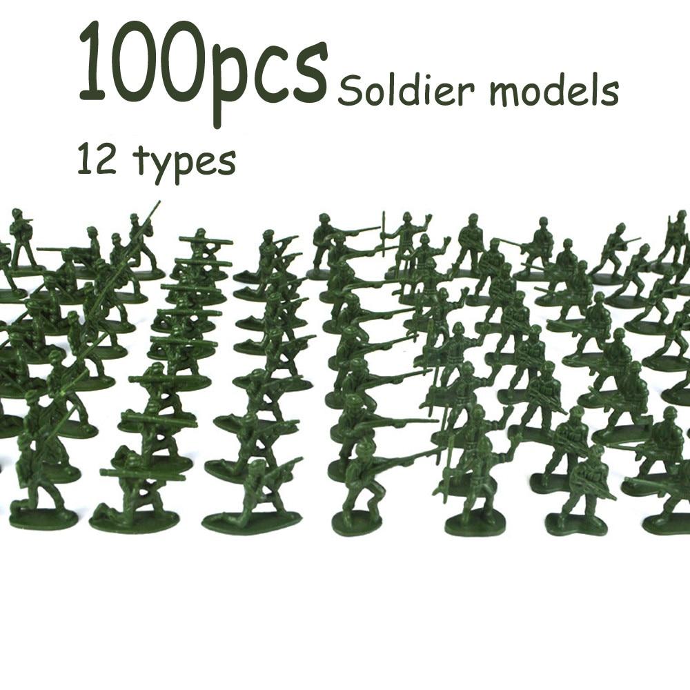 100 шт./упак. мини солдат военная модель Пластик игрушка, армейская куртка Для мужчин цифры Набор для игры в подарок модель игрушки для детей мальчиков