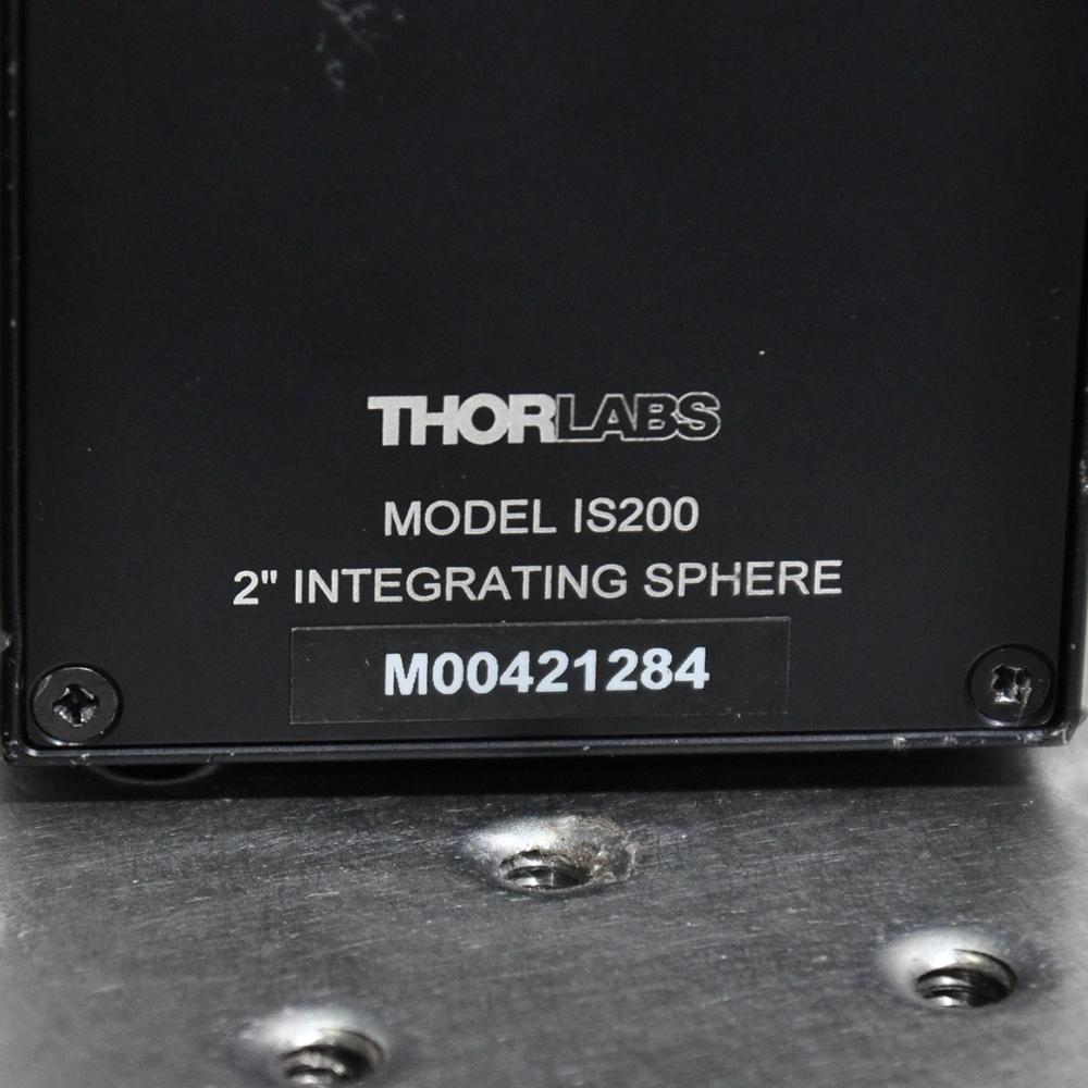 THORLABS IS200 2 inch integrating sphere sensorless 3 ports SM05PD4B detector enlarge
