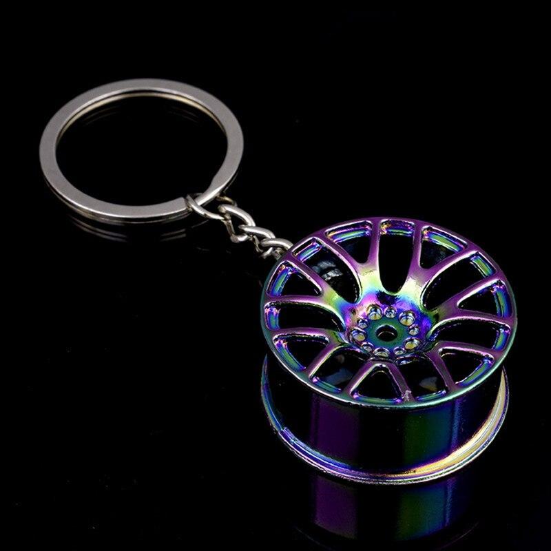 Автомобильный брелок для ключей с колесами, стильный Креативный автомобильный брелок для ключей, автомобильный брелок для BMW Honda Ford, Новинка