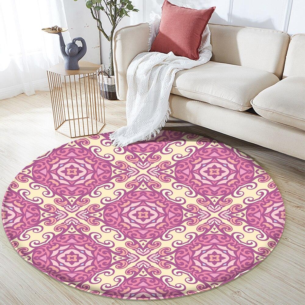 Alfombra antideslizante estilo Mandala colorido Floral patrón Alfombra piso Alfombra baño habitación...