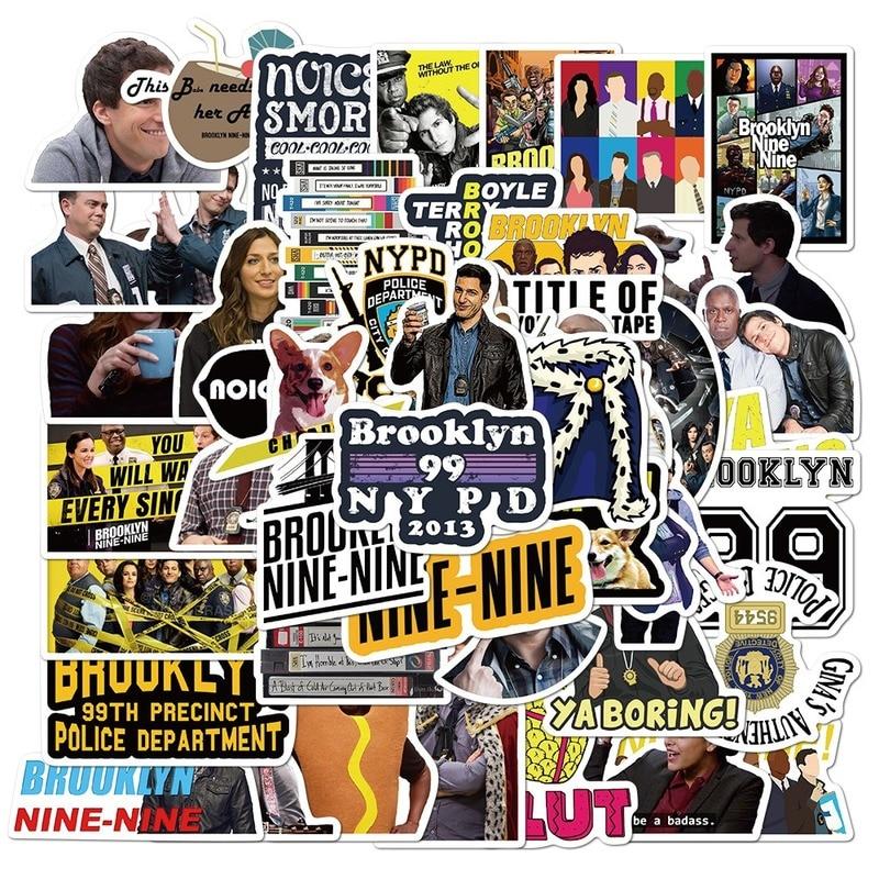 AliExpress - 50PCS TV Series Brooklyn Nine-Nine Stickers for DIY Stationery Decals Motorcycle Skateboard Laptop Guitar Helmet Sticker for Kid