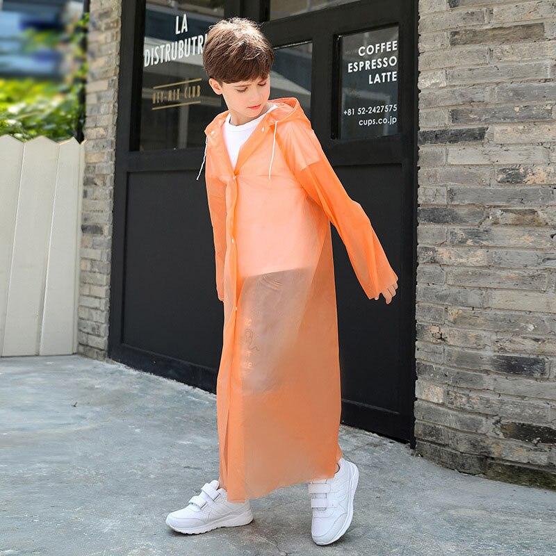Impermeable transparente de moda de alta calidad para niños, impermeable para niñas y niños, impermeable para viajes de senderismo al aire libre, para niños