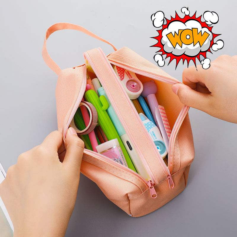 Large Capacity Fabric Pencil Cases Bags Pouch Creative Pen Box Case School Office Stationary Supplies 05089