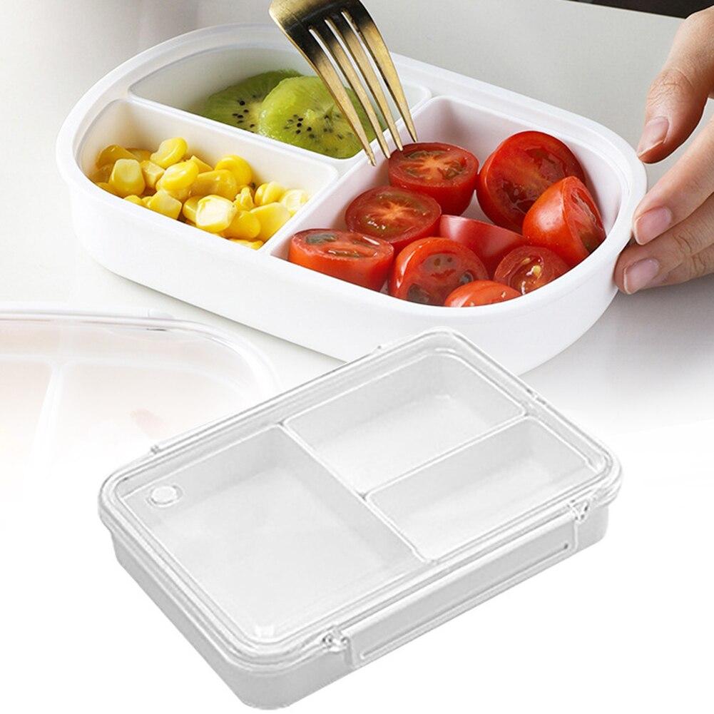 Caja Rectangular de almuerzo Bento con tapa de viaje Picnic microondas oficina escolar segura adultos lonchera contenedor a prueba de fugas