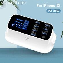 ЖК дисплей PD зарядное устройство Быстрая зарядка PD 3,0 Тип C USB зарядное устройство для iPhone 11 Pro Android Быстрая зарядка концентратор адаптер зарядное устройство для телефона