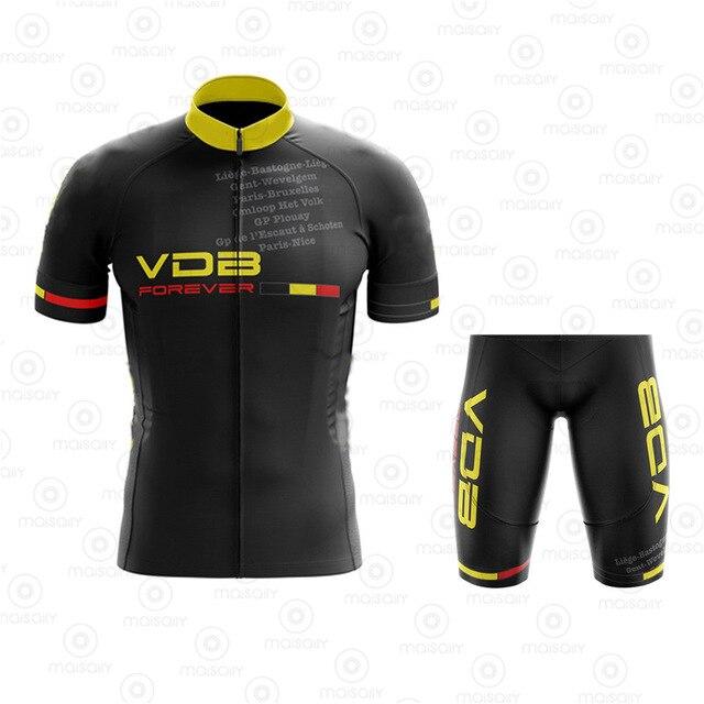 ジャージセットflanders ropa ciclismo hombreベルギーサイクリング服マイヨciclismo黒自転車ジャージビブショーツゲルパッド