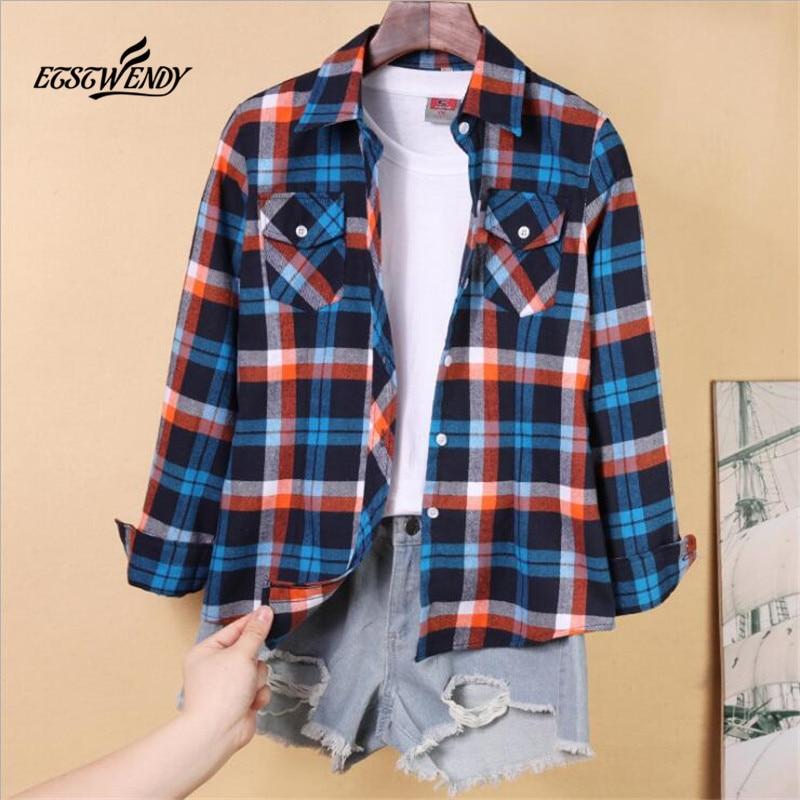 2021 primavera nova camisa feminina tamanho grande casual retro magro versão coreana outono de all-match outer wear senhoras camisa xadrez blusa