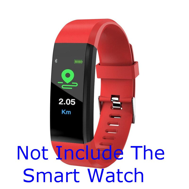 Pulsera inteligente de silicona pulsera con supervisión de frecuencia cardiaca presión arterial Fitness Tracker correas de reloj impermeable de por vida para XANES B05