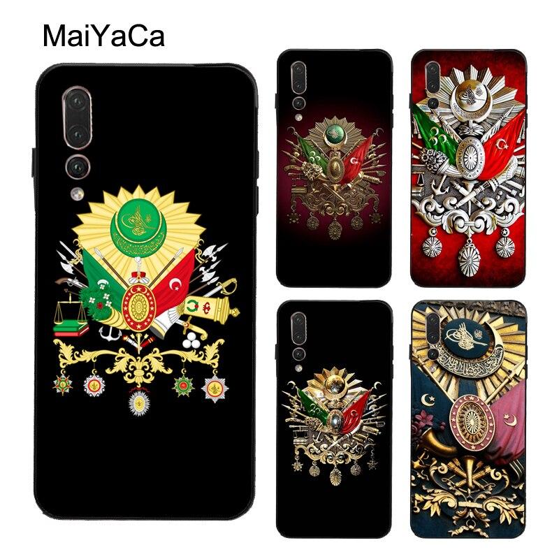 Osmanlı İmparatorluğu arması kılıfı için onur 8X 9X 9 10 20 Lite 7A Pro 10i 8A 8C 8S 7C Huawei Y6 Y9 Y7 2019 Nova 5T