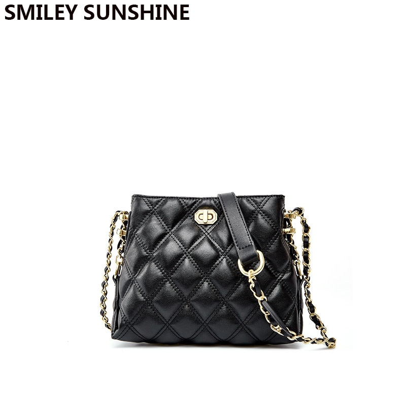 Genuine Leather Designer Brand Luxury Women Bag 2020 Fashion Trend Shoulder Bag Ladies Split Leather Chains Bag Small Handbags