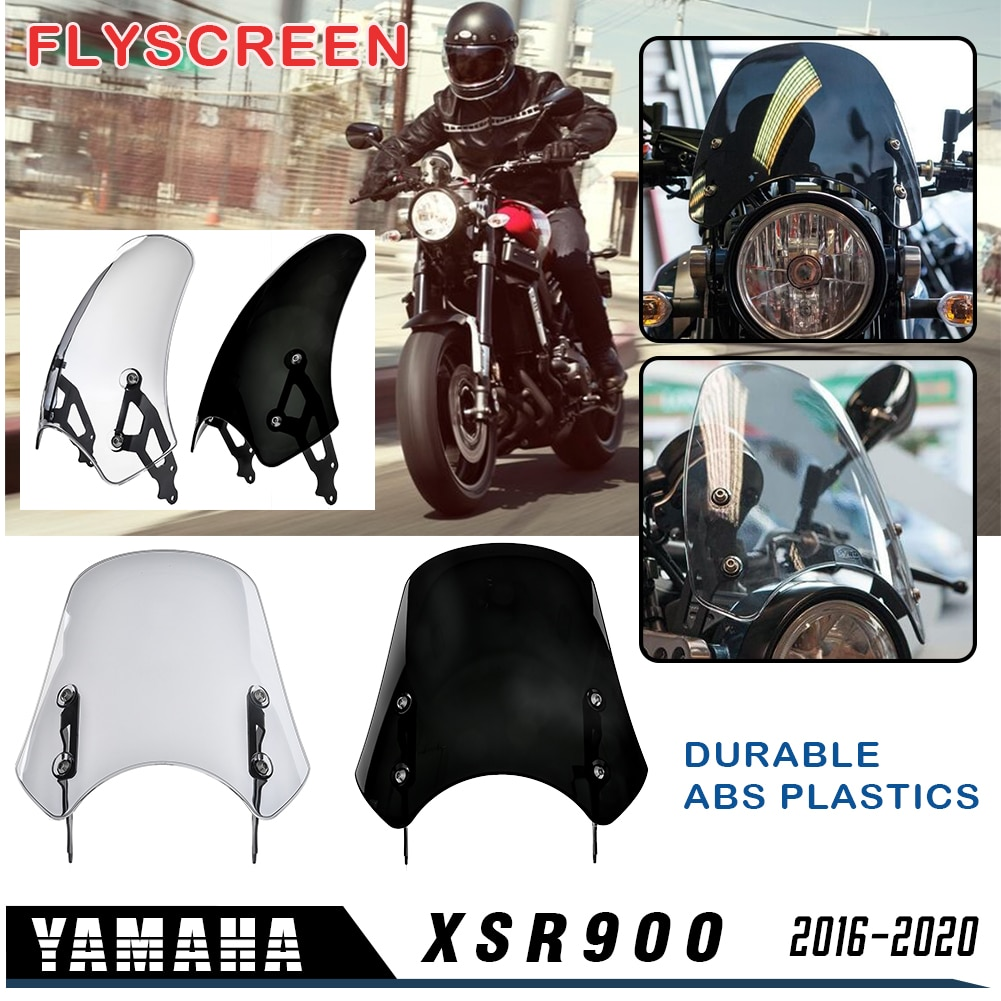 Motocicleta XSR900 2017 2018 2019 Protetor FlyScreen Deflector de Vento para Yamaha Windscreen Windshield XSR-900 XSR 900 2016-2020