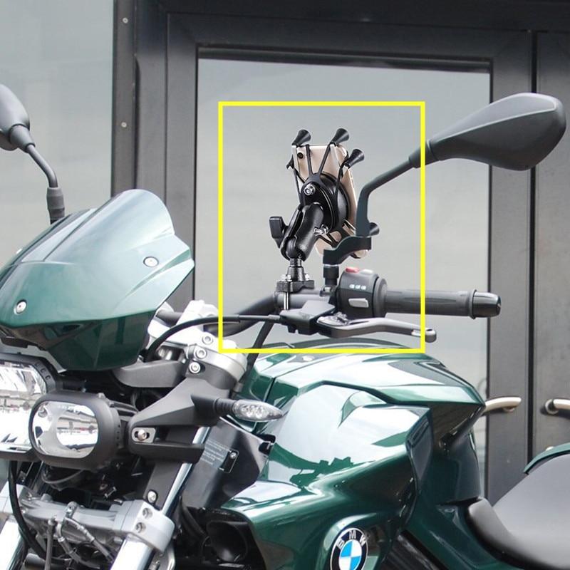 Generic Quality Plastic Motorcycle Handlebar Rail Mount holder Phone Smartphone Holder for iPhone