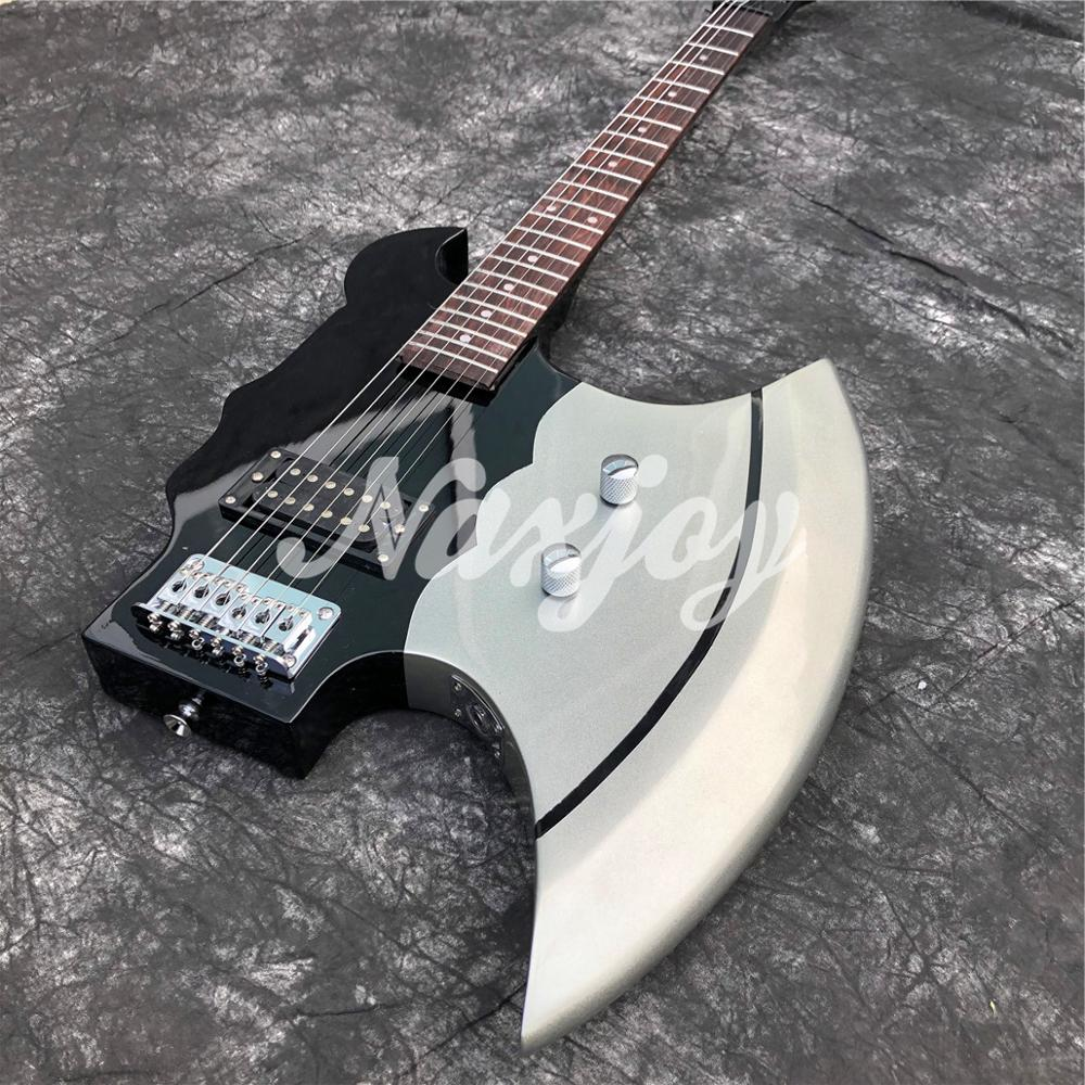 2020 New style 6-String Electric Guitar,Factory custom solid wood Axe shape Guitar,free shipping enlarge
