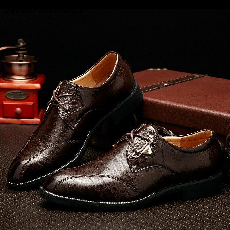 Zapatos de negocios para Hombre, Zapatos formales de cuero Oxford para Hombre,...