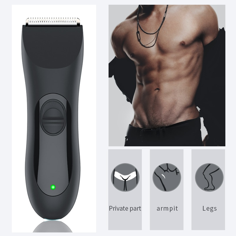 Body Trimmer for Men, Electric Groin Hair Trimmer,  Waterproof Wet/Dry Clippers,Ultimate Male Hygiene Razor enlarge