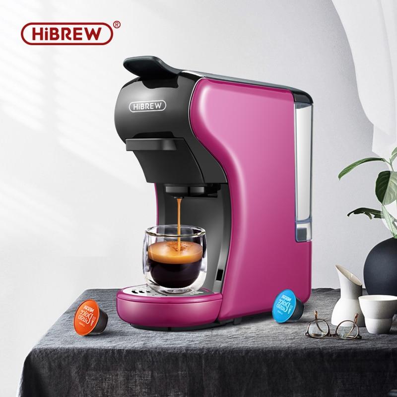 HiBREW Coffee Machine 19 Bar 3in1&4in1 Multiple Capsule Espresso,Cafetera,DolceMilK&Nexpresso Capsule&Ground &Kcup Pod H1