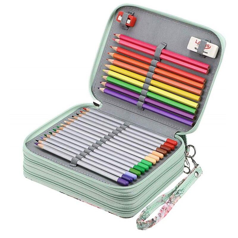 Estuche de lápices Kawaii para el colegio, estuche de lápices grande con 72/120 agujeros, estuche de lápiz de abeja bonito, Cartucho grande, papelería, Kit coreano