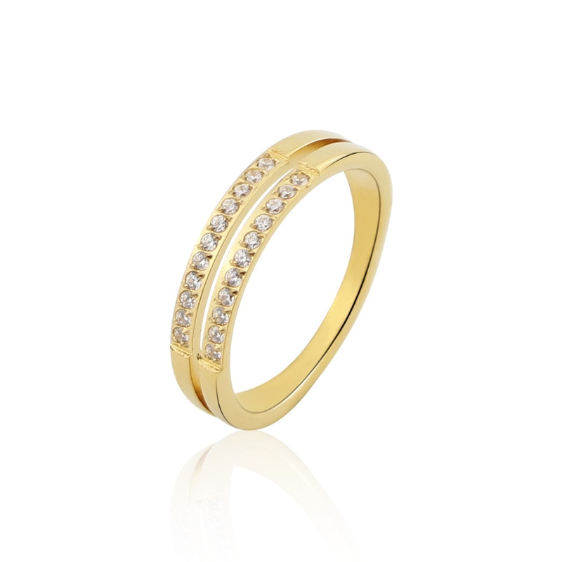 aliexpress.com - Beautiful Double-layer Set With 22 Zircon Rings For Wedding Titanium Steel Top Quality Brand Love Woman Ring Wholesale