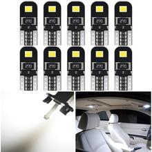 10pcs W5W Led T10 LED Canbus Lampadina Auto Luci Interne per BMW E46 E53 E90 E82 E60 X3 E83 e91 Touring X5 E70 X6 E71 E36 Coupe F25
