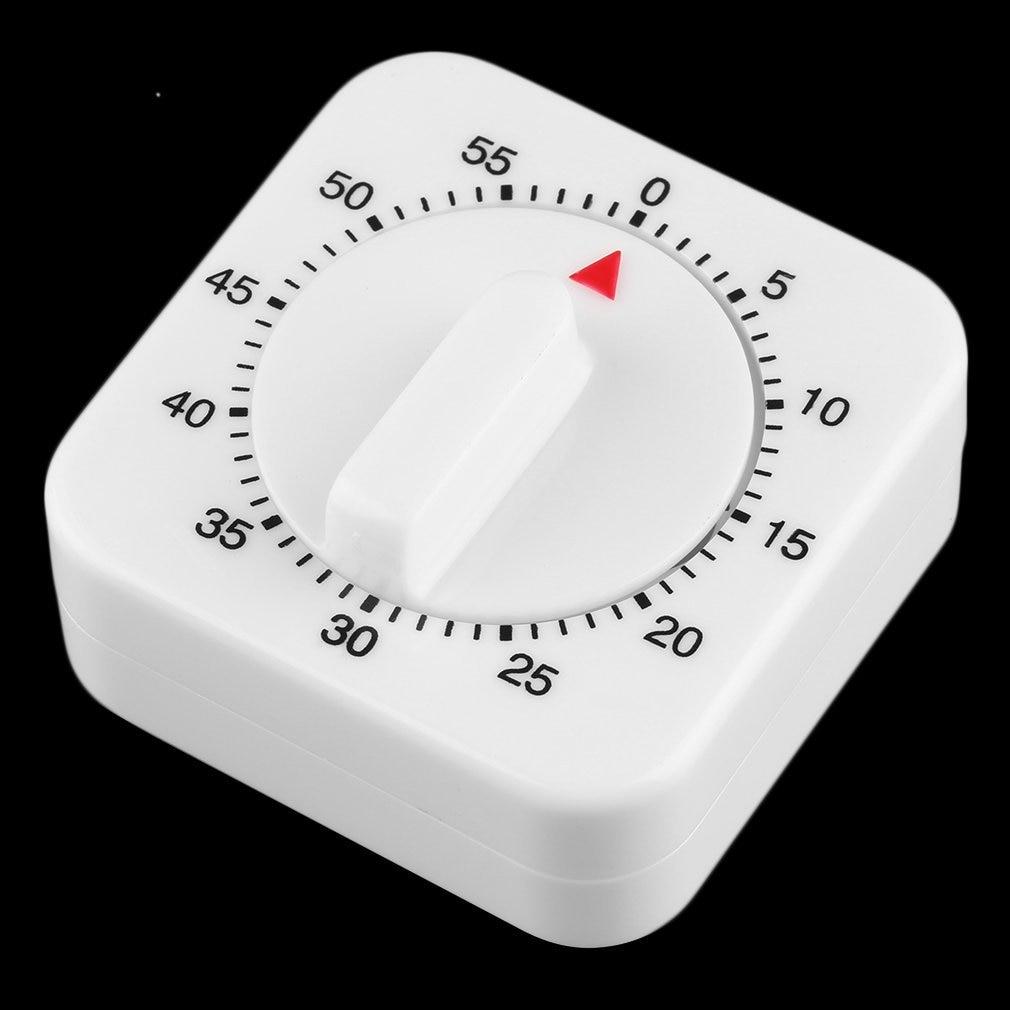 Temporizador de cocina mecánico de 60 minutos cuadrados, 1 Uds., preparación de comida, horneado, popular nuevo