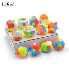 LeFun blocs de construction porte-clés MiNi Cubes magiques rapide Ultra-lisse en forme spéciale décorer vitesse Puzzle Cubes enfants jouet cadeau