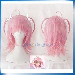Shugo Chara! Amu Hinamori Pink Wig Cosplay Synthetic Hair Dia Batsudia Wig Halloween Women Adult Lolita Hair
