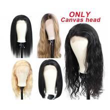 Canvas Head Wig Stand Mannequin Head Wig Holder For Women Make Wigs Maniquin Head Hair Hanger Manikin Head For Wigs Head Stand