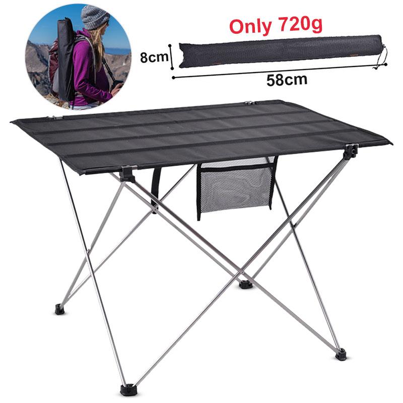 Mesa para acampar al aire libre, mueble de escritorio plegable portátil, cama...