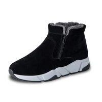 men boots winter mens shoes warm fur snow boots high top sneakers waterproof ankle boots leather casual shoes men