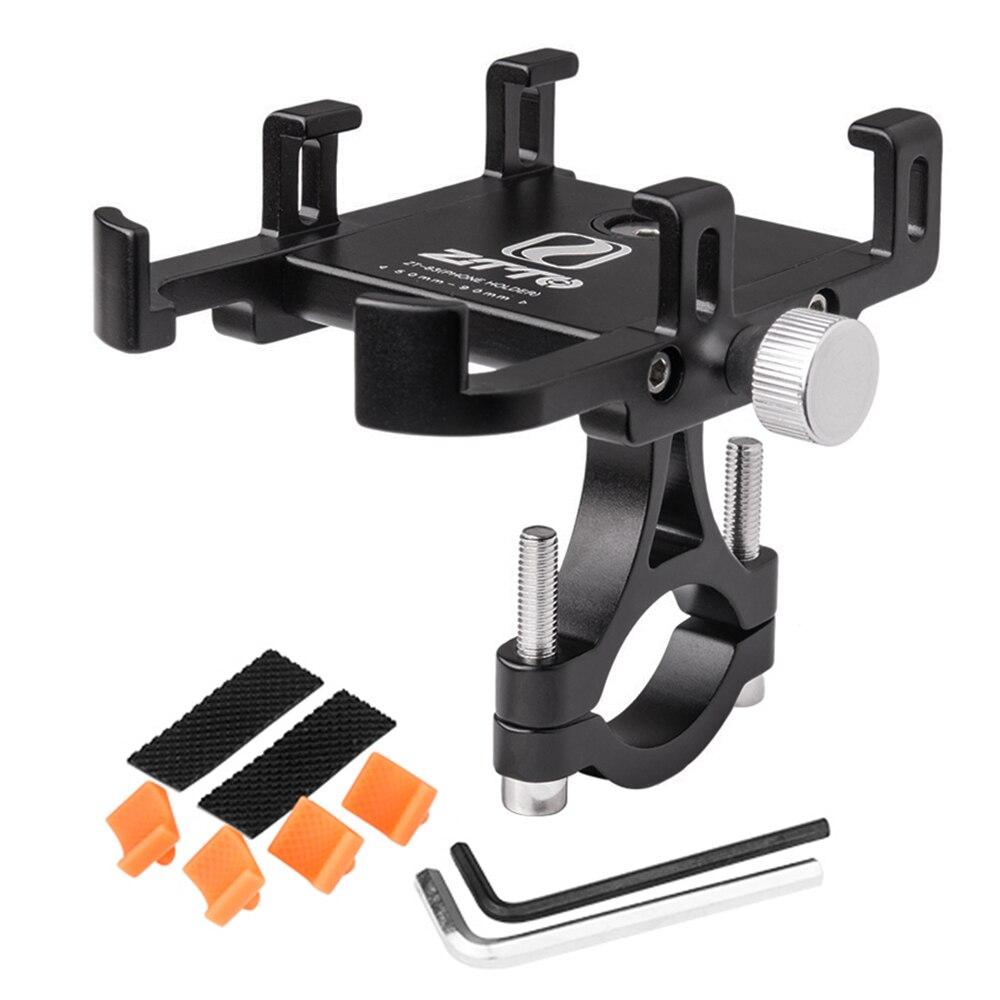 Montagem do telefone da bicicleta universal ajustável gps suporte de montagem braçadeira berço 360 graus rotação para 3.5 polegada smartphone