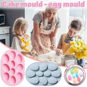 10 holes Easter Egg Silicone Cake Mold Diy Baking Mold Handm ade Soap Mold Fondant Mousse Chocolate Baking Mold Modelling Decor