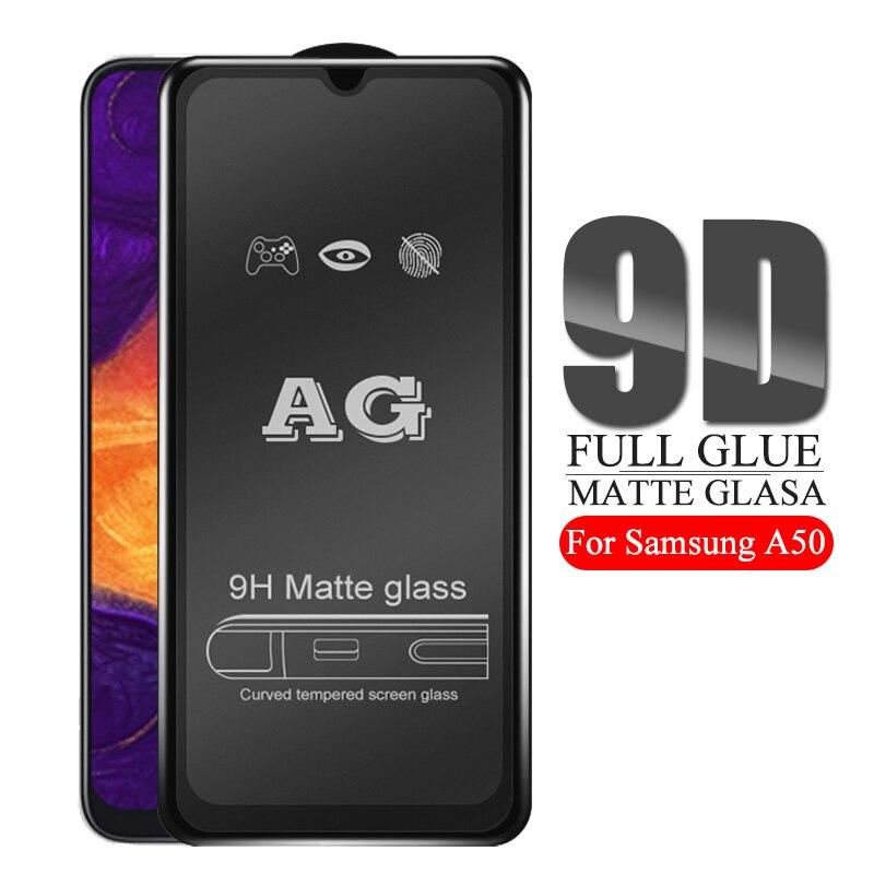 9D Completo Cola De Vidro Fosco Para samsung galaxy protetor de tela no sunsung a50 a50 a505 a505F um 50 2019 temperado glas segurança 9H