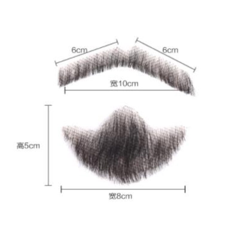 Men's Fake Beard For Mustache Fake Beard Props Invisible Fake Weave Mustache Make-up Easy Props Simulation Beard