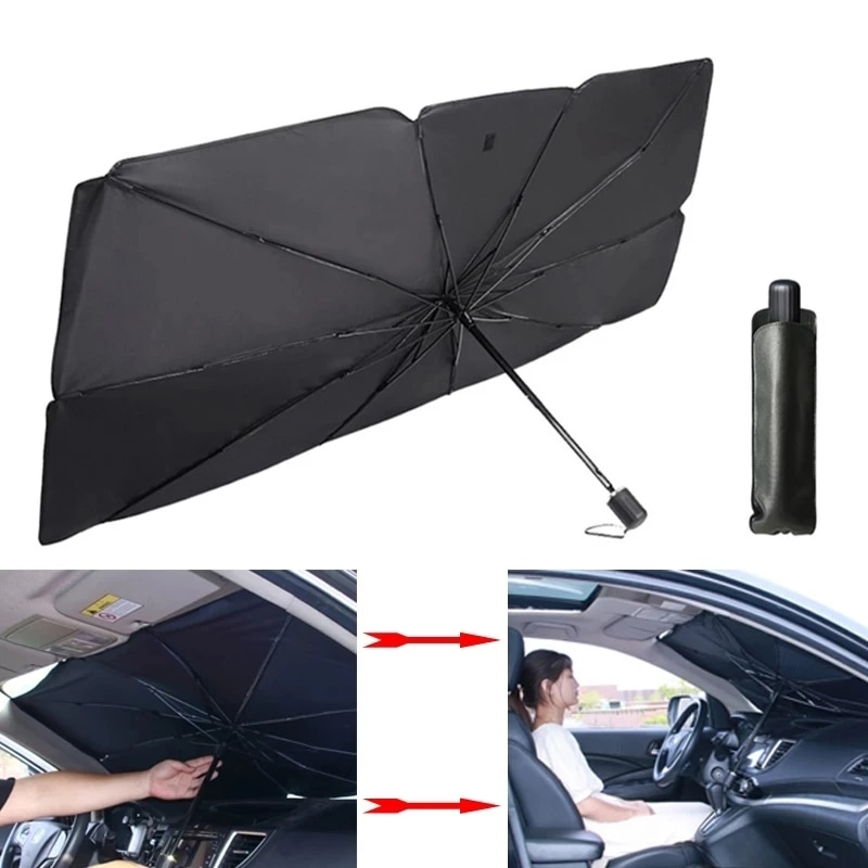УФ складной автомобильный солнцезащитный козырек для лобового стекла, теплоизоляция, Солнечная штора, автомобильные защитные аксессуары