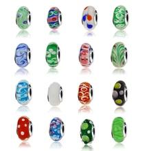 17 Styles Echt 925 Sterling Silber Effervescence Murano Glas Perlen Fit Original Europäischen Charme Armband Schmuck Machen DIY Geschenk