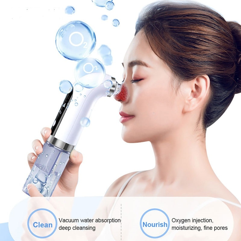 Facial Electric Five Suction Pore Cleaner Blackhead Remover Vacuum Skin Nose Acne Removal Vacuum  Small Bubbles Beauty Care Tool rechargeable vacuum blackhead remover facial vacuum pore cleaner nose acne facial skin care beauty suction device