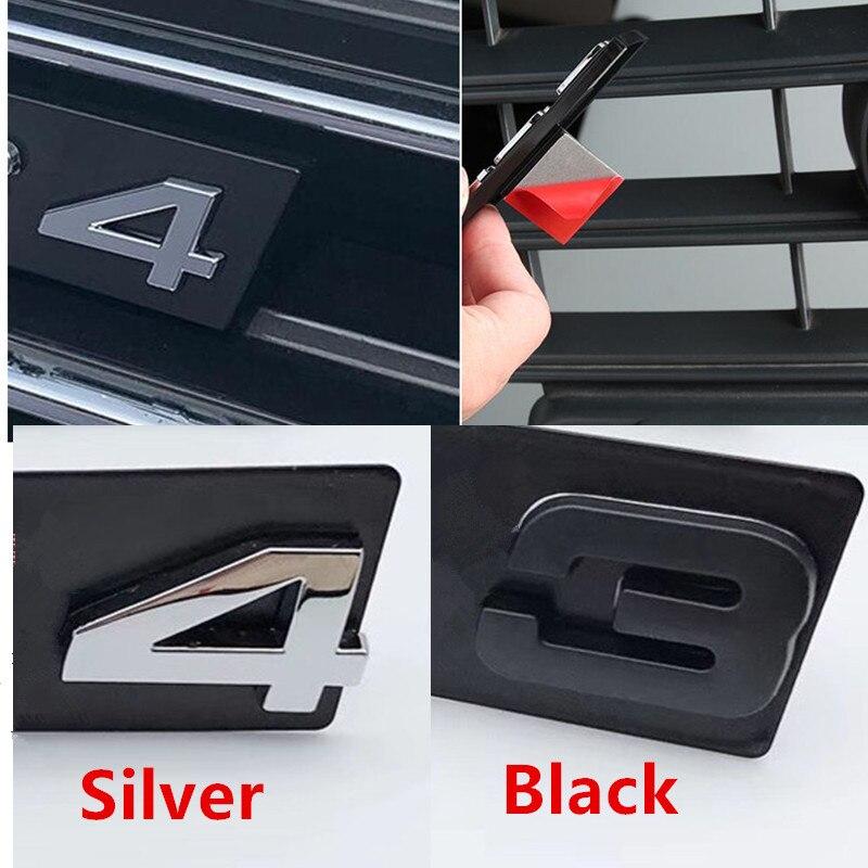 S3 S4 S5 S6 S7 S8 RS3 RS4 RS5 RS6 RS7 RS8 RSQ3 RSQ5 RSQ7 TTS решетка эмблема кронштейн глянцевый черный Автомобильный брелок с логотипом, Знак наклейки для Audi