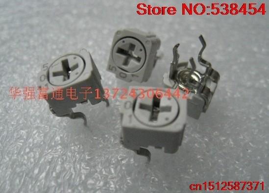 40PCS Precision ceramic potentiometer Fine-tuning potentiometer adjustable resistance 500Ohm 501 resistance potentiometer