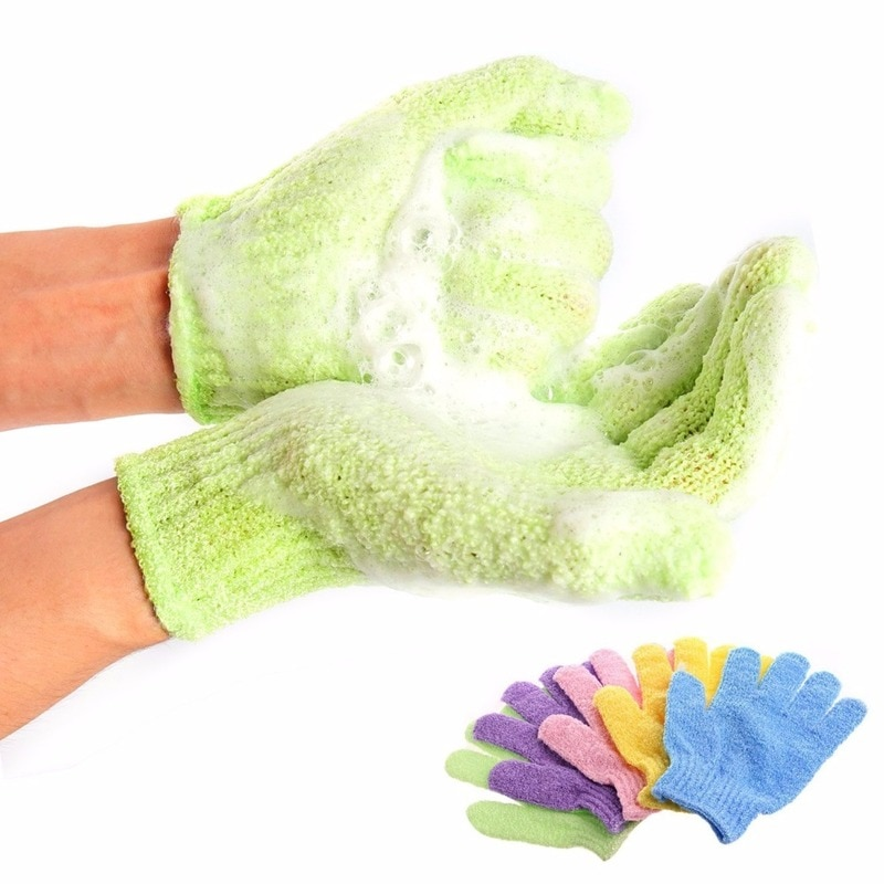 Bath For Peeling Exfoliating Mitt Glove For Shower Scrub Gloves Resistance Body Massage Sponge Wash